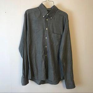 Eton mens gray slim fit dress shirt 41 L